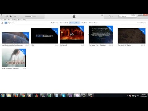 How to add videos/movies to iTunes Library 2017