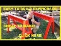 How to Build Simple Sawhorses. Easy, Sturdy and Cheap! PERFECT!