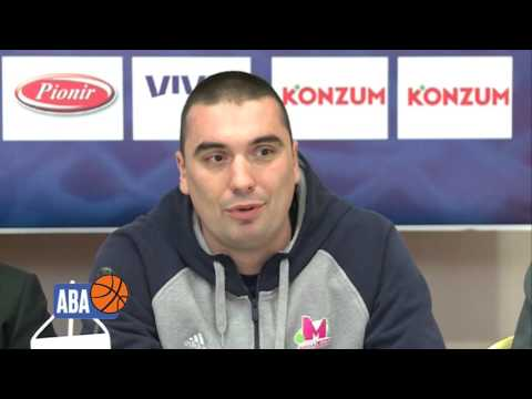 Press conference ahead of Semi-finals - Dejan Milojević and Rade Zagorac (Mega Leks)