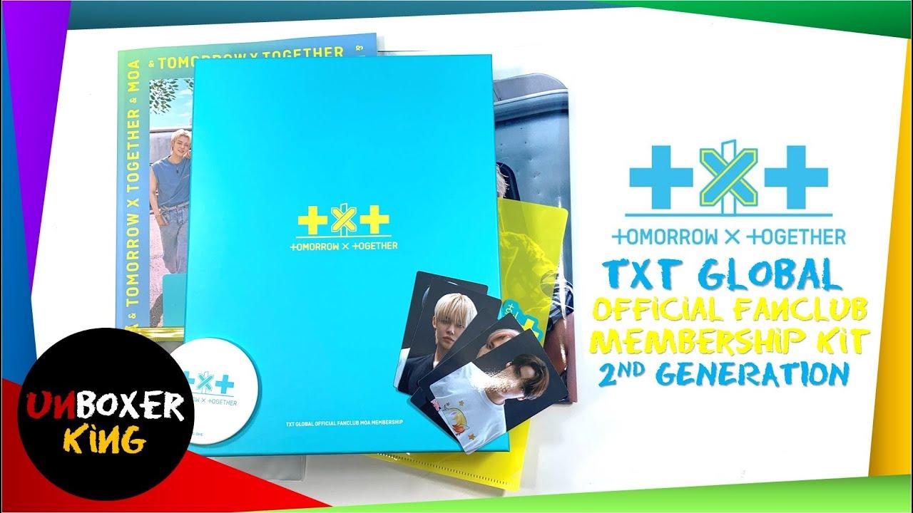 TXT 투모로우바이투게더 Tomorrow X Together 🌺🌹🌼💐🌸 MOA Global Official Fanclub 2nd Generation Membership Kit