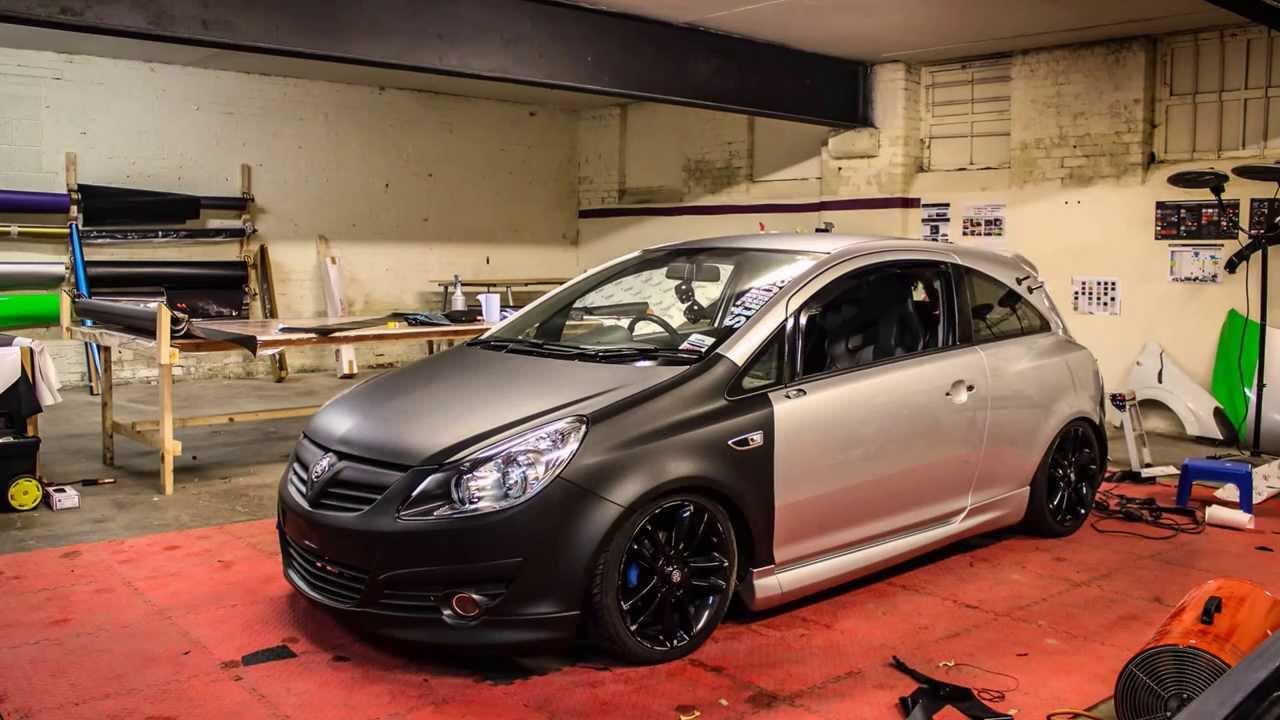 Vauxhall Corsa D 3m Matt Black Wrap Youtube
