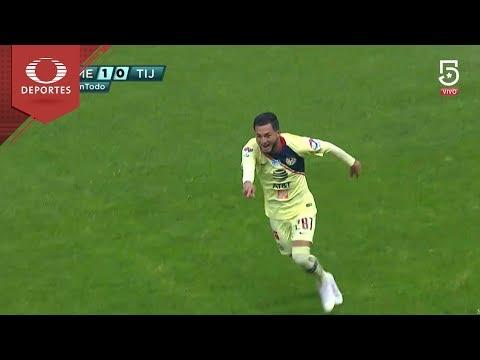 Gol de Clemente   América 1 - 0 Xolos   Copa Mx - Semifinal   Televisa Deportes