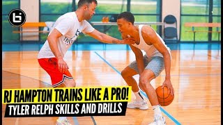 How A Professional Basketball Player Trains! RJ Hampton & Tyler Relph Private Skills Workout