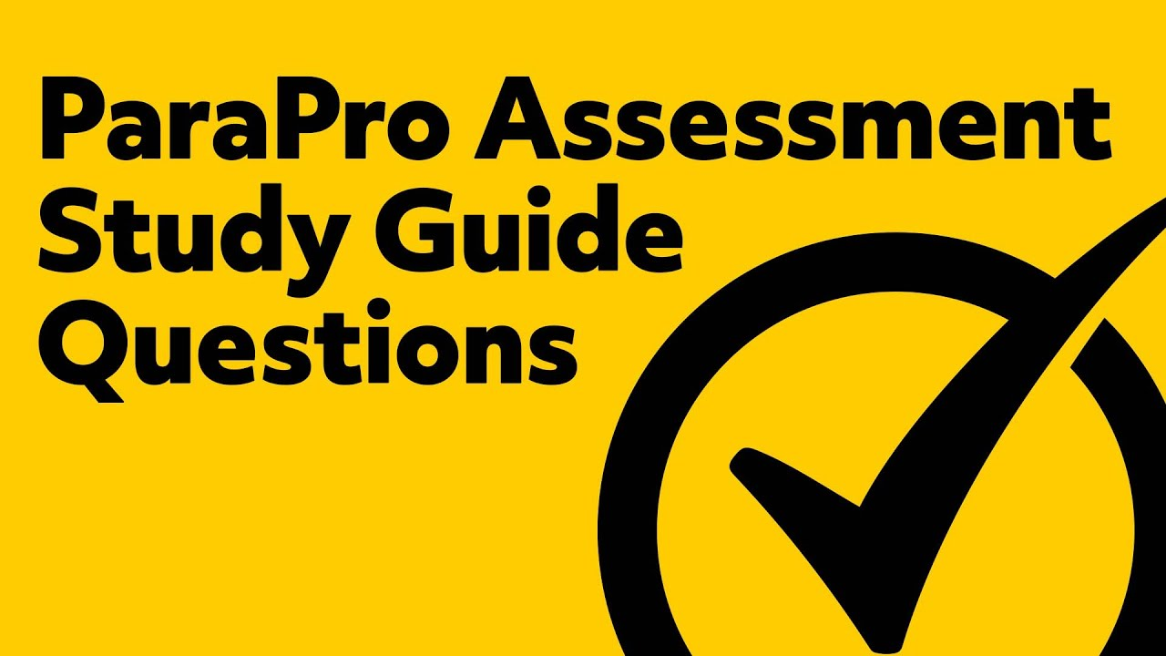 Paraprofessional Assessment Study Guide Questions Youtube