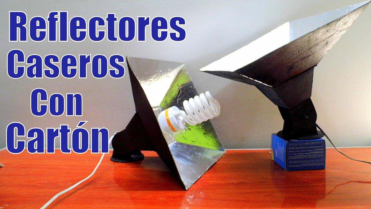 REFLECTORES DE LUZ CASEROS HECHOS CON CARTON Lampara De