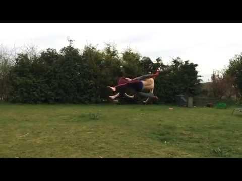 Dave Hill - Mid Air Slow Motion Scissor Kick Collision