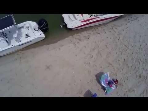 Drone footage of North Beach Island in Chatham, MA