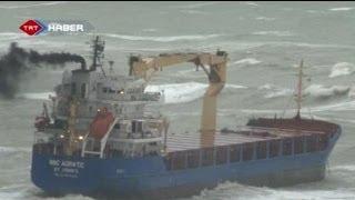 غرق سفينة شحن في البحر الأسود