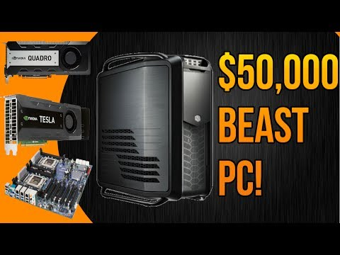 $50,000 BEAST WORKSTATION/EDITING PC 2014! (24 Cores, 38+TB, Nvidia Tesla + Quadro)