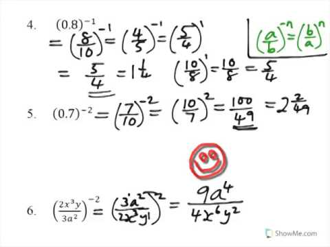 simplifying expressions with negative exponents pdf