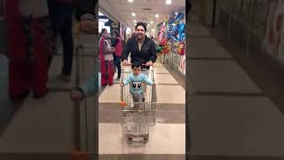 Malini in Mall on a trolley ride...😋😋