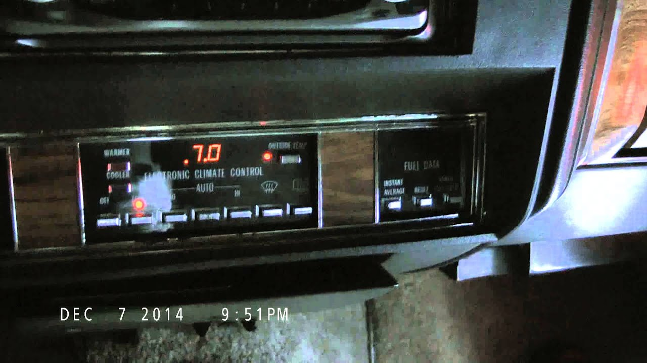 Checking & Clearing Diagnostic Codes on an \'84 Cadillac DeVille ...