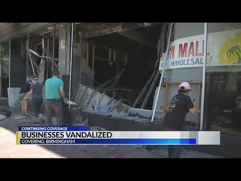 Birmingham business owners, volunteers clean up after destructive protests