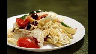 Смачний салат з яблуками та журавлиною / Вкусный салат с яблоками и клюквой