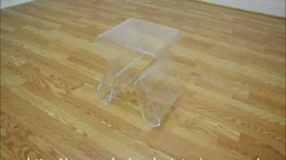 Wholesale Interiors Acrylic End Table With Magazine Rack
