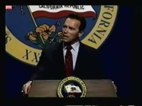 California Gov. Schwarzenegger calls for federal aid to state budget/denounces Obama health bill