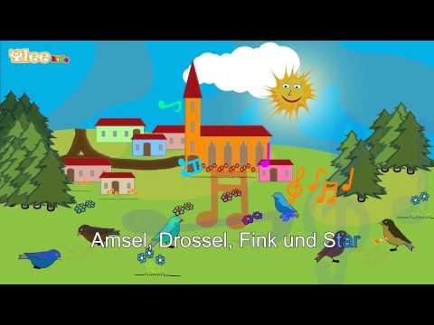 Alle Vögel sind schon da - Karaoke Version (Sing Allein) in Deutscher Sprache mit Text am Monitor