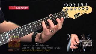 Pinball Wizard - The Who - Guitar Lesson with Danny Gill Licklibrary