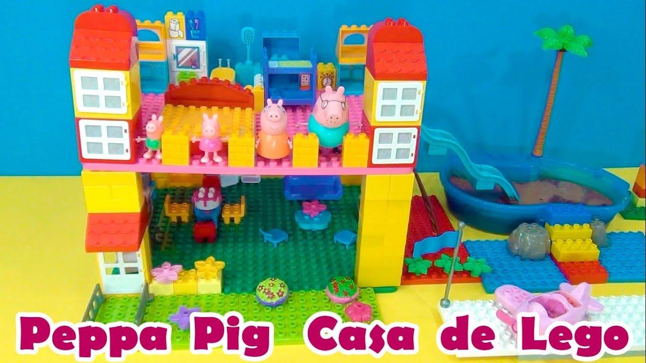 Peppa Pig Casa de Lego com Tobogua  Peppa Pig Lego House with waterslide TiaCris  YouTube