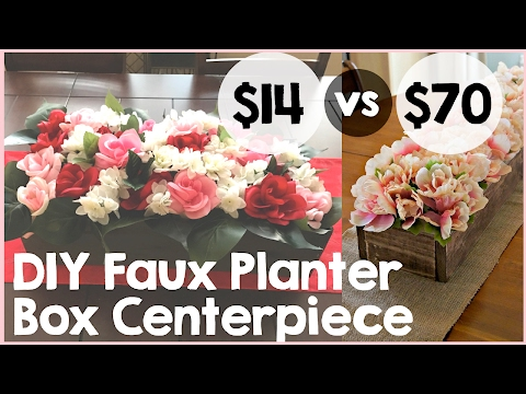 DIY Faux Planter Box Centerpiece Tutorial | Easy DIY Floral Centerpiece