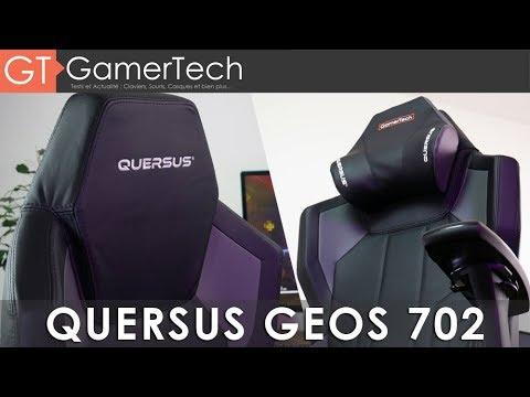 Quersus geos 702 test [fr] le siège gaming du futur ? youtube