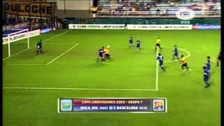 Gol de Ariel Grazziani contra Boca Juniors - Copa Libertadores 2003