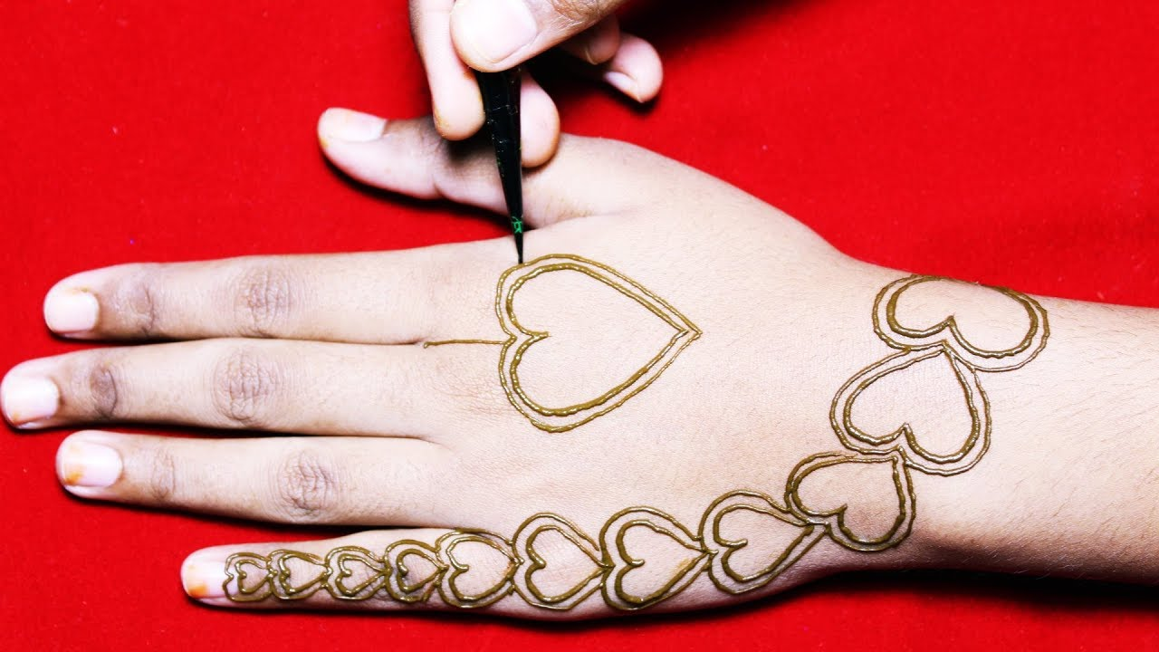 New Heart Mehndi Designs For Hands Heart Mehndi Designs Easy