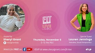 "FIT LIVE! Talking ""The Intersection of Career and Passion"" with Lauren Jennings!"
