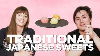 Taste Testing Japanese Traditional Sweets with Abroad in Japan