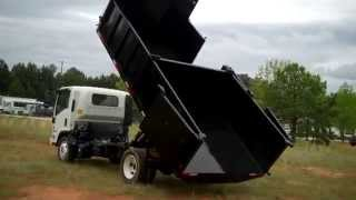 16 foot two compartment mulch dump