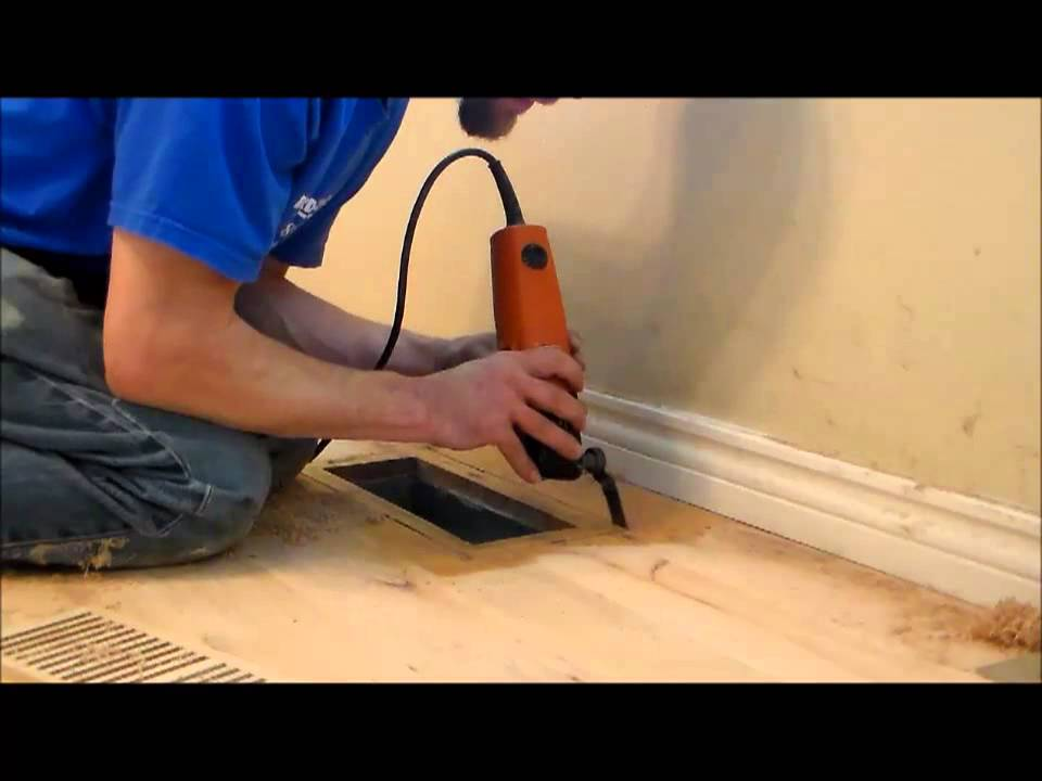 How to install a flush mount vent into an existing floor  YouTube