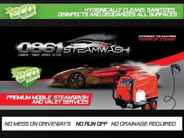 0861STEAMWASH Dirty BMW Steam Wash - Durashine Technologies Franchise