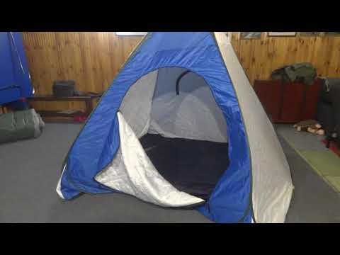 Зимняя многослойная палатка автомат. КАК СВЕРНУТЬ.