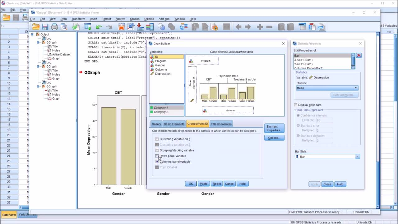 Spss chart builder row and column panel variables with bar charts spss chart builder row and column panel variables with bar charts publicscrutiny Image collections