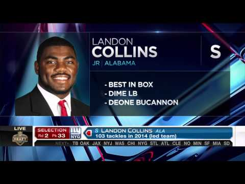 Giants draft Safety Landon Collins in second round