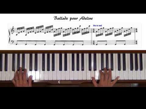 Ballade pour Adeline Piano Tutorial (with Score)
