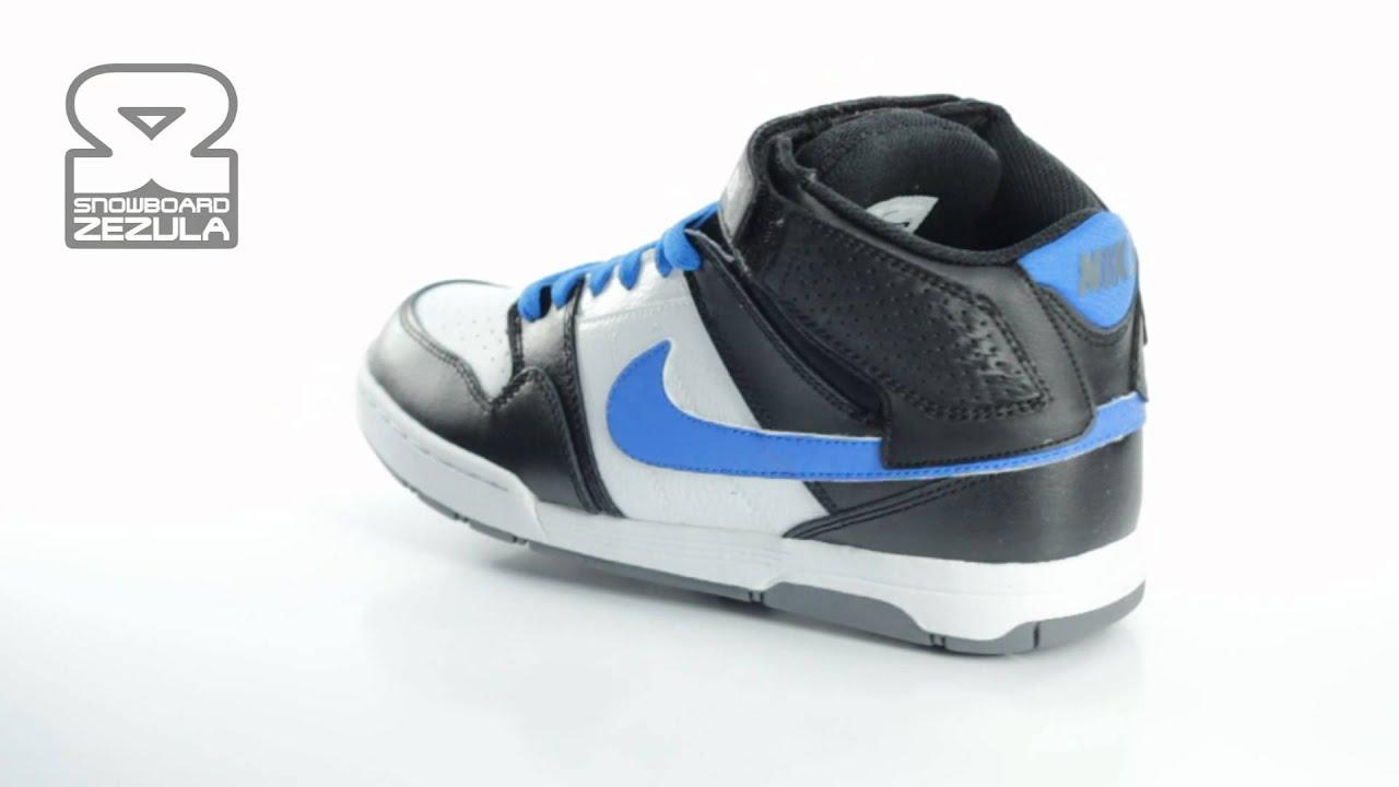 Boty Nike 6.0 Mogan mid 2 jr black soar white 2012 - YouTube bd58725621