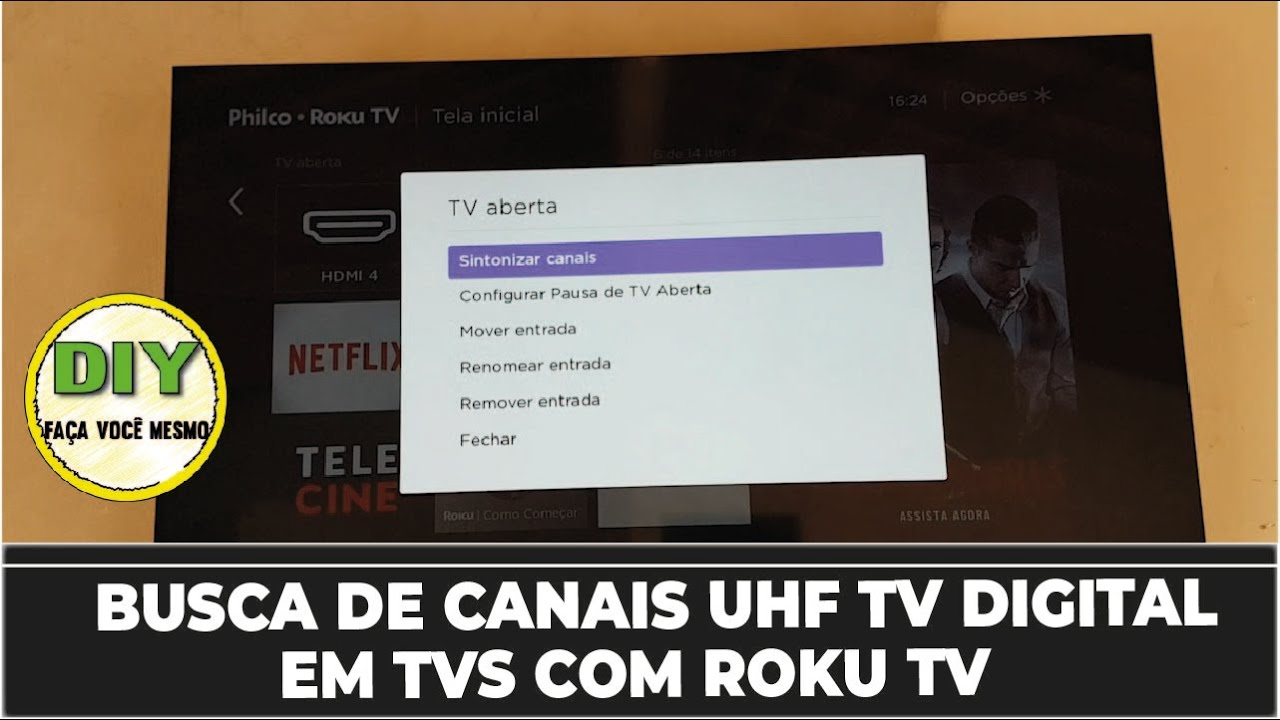TV COM ROKU Fazer Busca de Canais TV Aberta