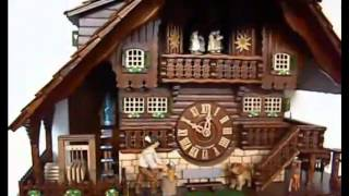 Sc 8tmt 1071 9 8 Day Musical Alpine Cabin Saw Mill With Deer Cuckoo Clock