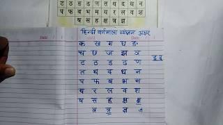 क ख ग घ हिन्दी वर्णमाला, व्यंजन अक्षर, हिन्दी पढ़ना लिखना सीखें, हिन्दी सीखें HINDI KAISE SEEKHEN,