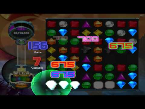Bejeweled Twist - Smart Move with Fruit Dance!! (204 Gems, 12 Cascades!!)