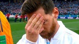 ¿Preocupado o concentrado? Messi se tapó la cara durante el Himno