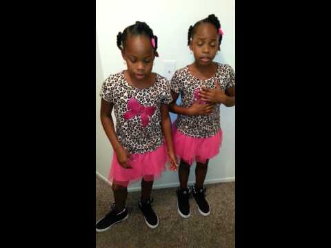 10 year old twins singing Bruno Mars