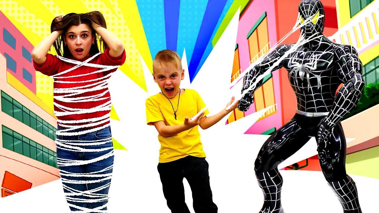 Видео для детей. Джокер похитил супергероев! — Человек ...