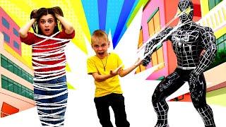 Видео для детей. Джокер похитил супергероев! —Человек-паук попал под влияние сил зла! —Новая серия