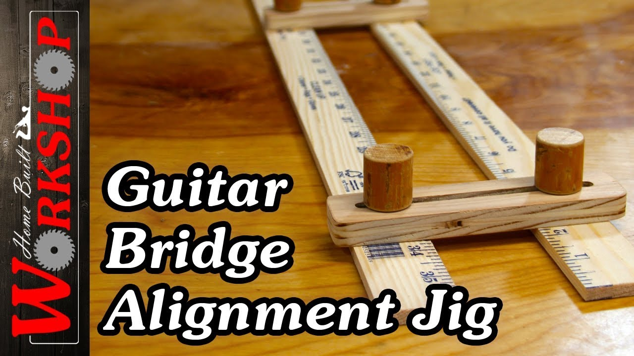 homemade guitar bridge alignment jig youtube. Black Bedroom Furniture Sets. Home Design Ideas