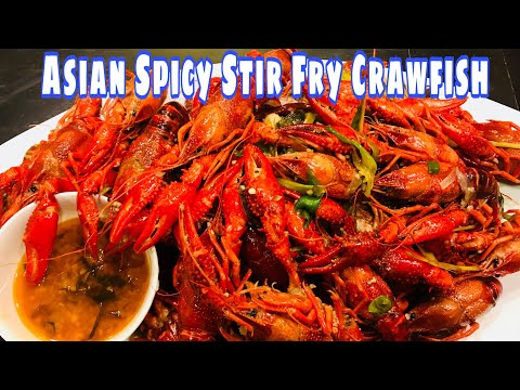 Asian Spicy Stir Fry Crawfish  (cooking Outside)