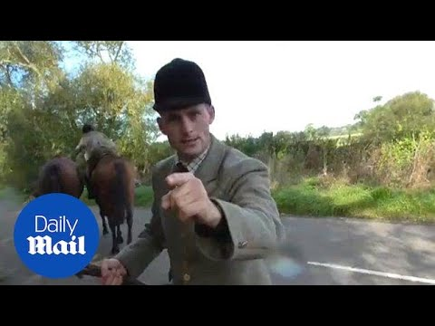 Fox Hunt Member Caught Appearing To ATTACK Demonstrator - Daily Mail