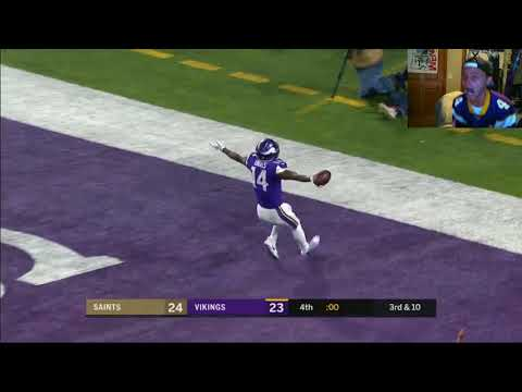 LIVE REACTION GAME WINNING TD VIKINGS VS SAINTS