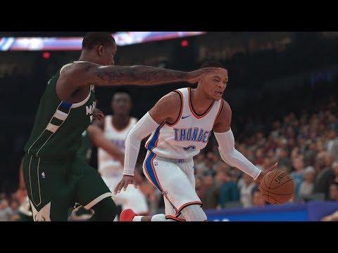 NBA Preseason 10/9 Milwaukee Bucks vs Oklahoma City Thunder Full Game   NBA 2K